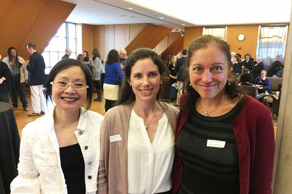 Laurene Glimois with Wynne Wong (left) and Dana Renga (right) at the GATA award reception