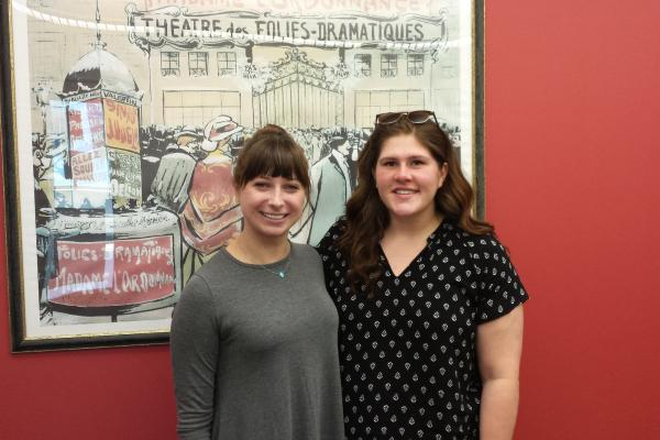 Leia Gertz (left) and Megan Edelman (right)